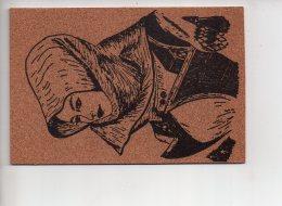 REF 281  : CPSM Carte En Liège Costume Sardegna - Cartes Postales