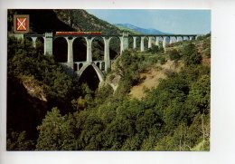 REF 280  : CPSM 66 Villefranche De Conflent Train Le Pont Séjourne - Francia