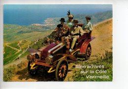 REF 280  : CPSM 66  Cote Vermeille Route De Madeloch Au Fond Banyuls Voiture Ancienne - Francia