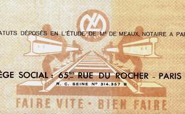 ENTREPRISE LOUIS MELEUX CHEMIN DE FERS RAILS VOIR HIST. POLITIQUE DECES DU DIRIGEANT TROU DANS LA CAISSE OPUS DEI   ???