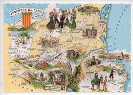 REF 275  :  CPSM 66 Contour De Département Pyrénées Orientales - Francia