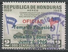 Honduras 1965. Scott #C357 (U) Inauguration Of General Oswaldo Lopez Arellano As President * - Honduras