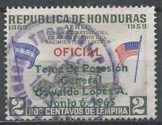 Honduras 1965. Scott #C357 (U) Inauguration Of General Oswaldo Lopez Arellano As President - Honduras