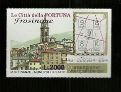 Gratta E Vinci - Le Città Della Fortuna - Frosinone - Lotto 48 - Biglietti Della Lotteria