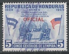 Honduras 1959. Scott #CO101 (U) Abraham Lincoln Freeing The Slaves - Honduras