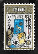 TIMBRE OBLITERE DU RWANDA DE 1980 N° MICHEL 1041 - Rwanda