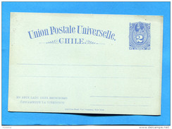 MARCOPHILIE -CHILI-card Verte  -tarjeta- Entier Postal- Neuf-colon--2cen  Bleu-t U P U 1895 - Chile