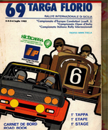 X 69 TARGA FLORIO 1985 RALLYE INT.LE  CARNET DE BORD ROAD BOOK 1 TAPPA ETAPE STAGE - Automobilismo - F1