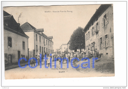 (n°678)  CPA  42 Loire  MARS Grande Rue Du Bourg  ____ Luxe Animation ALEX BOULANGER Le Village Devant La Boulangerie - Autres Communes