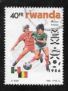 TIMBRE OBLITERE DU RWANDA DE 1986 N° MICHEL 1344 - Rwanda