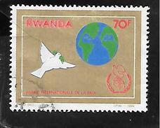 TIMBRE OBLITERE DU RWANDA DE 1986 N° MICHEL 1357 - Rwanda