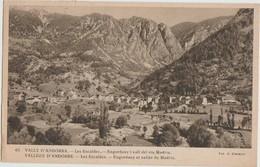 CPA ANDORRE ANDORRA Les Escaldes Vallée Du Madriu Timbre Stamp 1947 - Andorre
