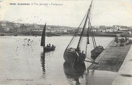 Audièrne (Finistère) - Vue Générale - Poulgoazec, Barques De Pêche à Voile - Collection Villard - Audierne