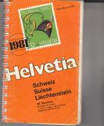 Catalogue Helvetia  Suisse & Liechenstein  1981 - Suisse