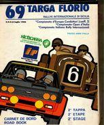 X 69 TARGA FLORIO 1985 RALLYE INT.LE  CARNET DE BORD ROAD BOOK 2 TAPPA ETAPE STAGE - Automobilismo - F1
