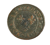 Double Tournois - Henri IIII - France - 1589 A - TB - Cuivre - 2,53 Gr. - 987-1789 Monnaies Royales