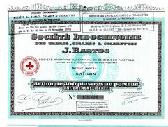 1956 SOCIETES COLONIALES INDOCHINE SAIGON SOCIETE INDOCHINOISE  J.BASTOS  V.SCANS+HISTORIQUE - Agriculture