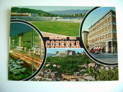SALUTI  DA  COSENZA    CON VEDUTA STADIO  STADE STADT  CALABRIA  VIAGGIATA   COME DA FOTO - Cosenza