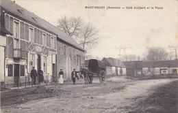 CARTE POSTALE   MARTINSART 80  Café Guilbert Et La Place - France