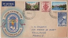 JO-L25 - AUSTRALIE FDC Pour La France Jeux Olympiques De Melbourne 1956