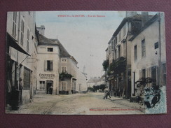 CPA 71 VERDUN SUR LE DOUBS Rue De Beaune 1906 ANIMEE COLORISEE COMMERCES Canton GERGY - Otros Municipios