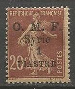 SYRIE   N° 60 Variétée Surcharge Recto-verso NEUF* CHARNIERE / MH - Syria (1919-1945)