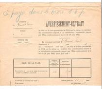 Avertissement Extrait Du Rôle De La Taxe Provinciale Commune De Court-Saint-Etienne En 1904 PR4481 - 1900 – 1949