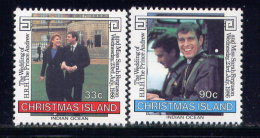 CHRISTMAS IS., SET, NO.'S 187-188, MNH