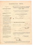 Avertissement Extrait Rôle De La Taxe Sur Le Revenu Cadastral Commune De Court-Saint-Etienne En 1903 PR4484 - 1900 – 1949