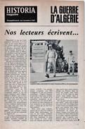 Guerre D'Algérie - Historia Magazine - Supplément Au N° 347 - Nos Lecteurs écrivent - Revues & Journaux