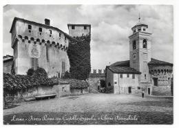 LERMA - PIAZZA ROMA CON CASTELLO SPINOLA E CHIESA PARROC.  VIAGGIATA FG - Alessandria