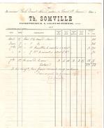 Facture Th. Somville à Court-Saint- Etienne Entrepreneur En 1895 PR4487 - Belgique