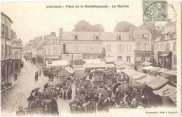 Dépt 60 - LIANCOURT - Place De La Rochefoucauld - Le Marché - (Dupoty Receveur Des Droits De Place) - Liancourt