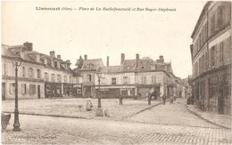 Dépt 60 - LIANCOURT - Place De La Rochefoucauld Et Rue Roger-duplessis -(meubles, Tapisseries J. Marinier Fils) - Liancourt