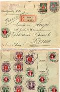 Enveloppe Adressée En Recommandé De DANZIG (Allemagne A ROUEN (France) 17 Timbres Oblitérès Sur 22   (96336) - Storia Postale