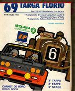 X 69 TARGA FLORIO 1985 RALLYE INT.LE  CARNET DE BORD ROAD BOOK 3 TAPPA ETAPE STAGE - Automobilismo - F1