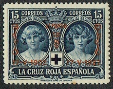SPAIN Red Cross Overprinted 15 Cent Mint - 1889-1931 Regno: Alfonso XIII