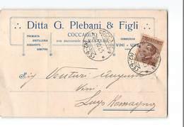 1927 01 PLEBANI DISTILLERIA ACQUAVITE GINEPRO COCCAGLIO X LUGO - PRESENTI PIEGHE - 1900-44 Vittorio Emanuele III