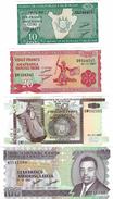 BURUNDI 10 20 50 100 FRANCS 2007 P-33,27,36,37 UNC SET [BI214l, BI215n, BI222g, BI223f] - Burundi