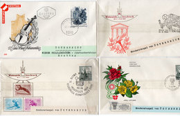 4 Enveloppes -  Sonderstempel  (3) - 1° Jour- Fleurs - Jeux Olympiques Insbruavec - Violon ...    (96338) - 1945-.... 2nd Republic