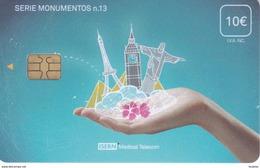 ISN-226 TARJETA DE ESPAÑA DE ISERN  DE LA SERIE MONUMENTOS Nº13 (TORRE EYFFEL-BIG BEN-CRISTO REDENTOR-PIRAMIDES EGIPTO)