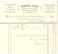 Factures Edmond Jadin Entreprises Générales De Peintures à Court-Saint-Etienne 1915-1916 PR4491 - Belgique