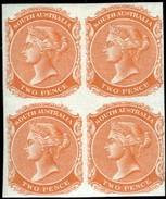 South Australia. Scott #54. Block Of Four Plate Proofs. - 1855-1912 South Australia