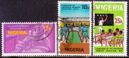 NIGERIA 1976 SG #358-60 Compl.set Used Unversal Primary Educatioin - Nigeria (1961-...)