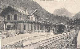 SUISSE )) Gare Du CHATELARD Et Massif Des Aiguilles Rouges - VS Wallis