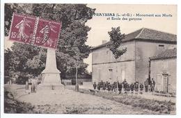 Prayssas, Monument Aux Morts Et école Des Garçons - Otros Municipios