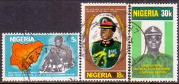NIGERIA 1977 SG #366-68 Compl.set Used First Death Anniv Of General Muhammed - Nigeria (1961-...)