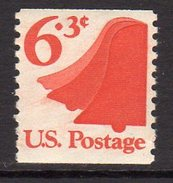 USA 1973-4 6.3c Liberty Bell Coil Stamp Definitive, Imperf. X P.10, MNH (SG 1519) - Vereinigte Staaten
