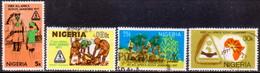 NIGERIA 1977 SG #369-72 Compl.set Used Scout Jamboree - Nigeria (1961-...)
