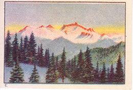 SWITZERLAND - NESTLE 'S PICTURE STAMP / CARD / LABEL - TWILIGHT PHENOMENA - Advertising